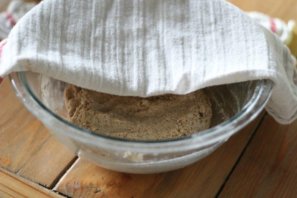 whole grain coconut oil sourdough doughnuts soak
