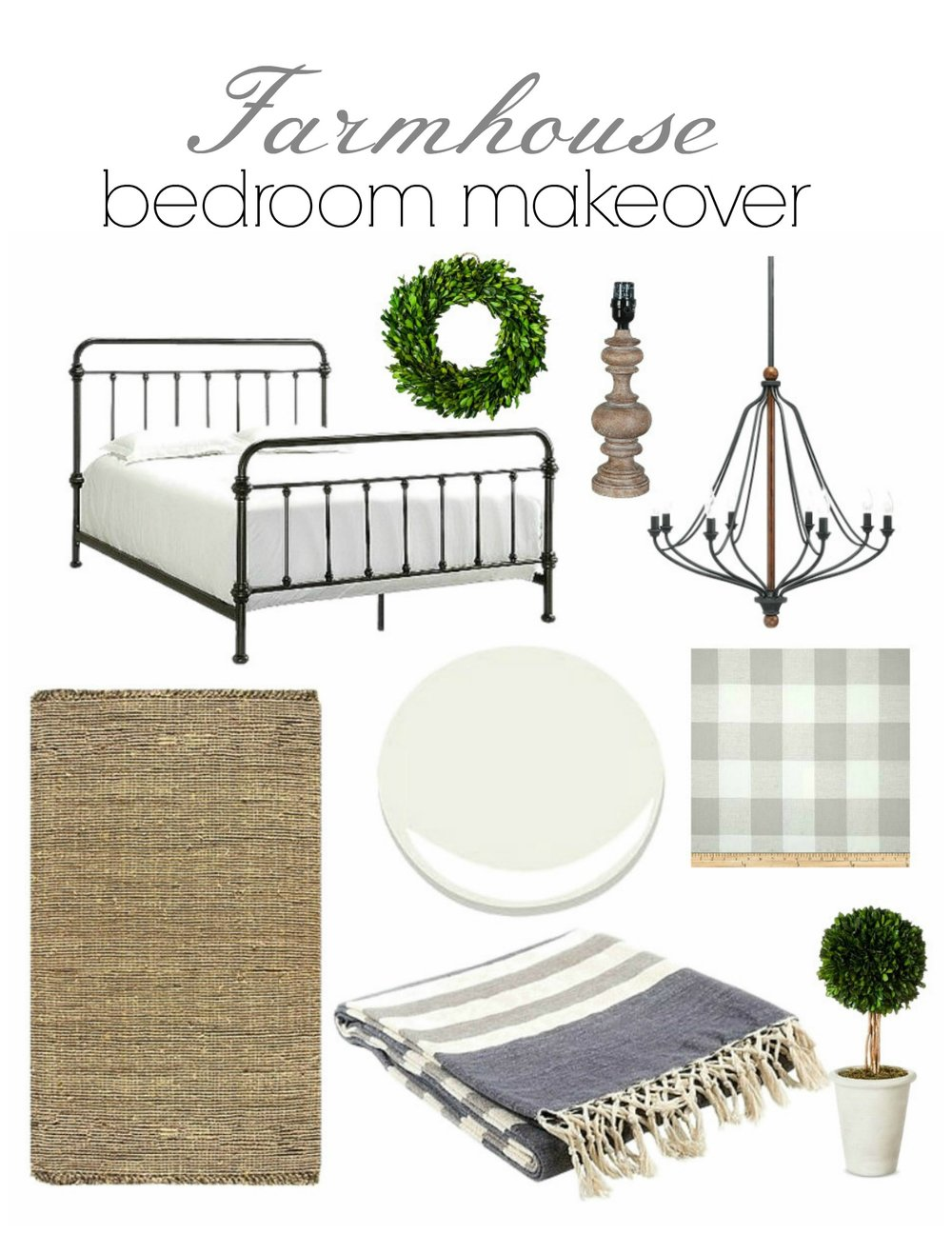farmhouse bedroom makeover 1