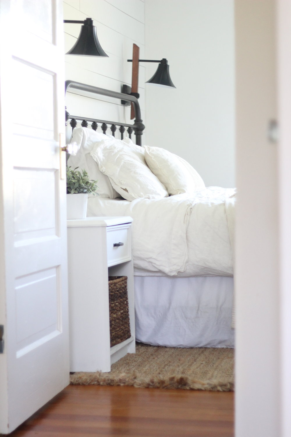 A Farmhouse Bedroom Makeover- Part 4 Lamps and Nightstands ...