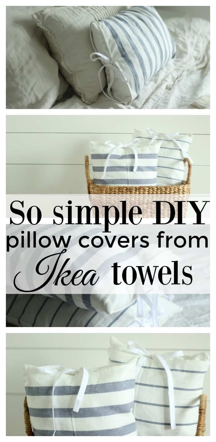 How To Make A Tea Towel Pillow