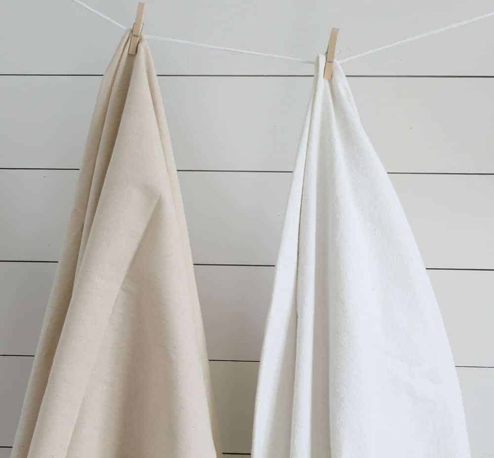 How To Bleach Drop Cloth Make It Perfectly Soft And White