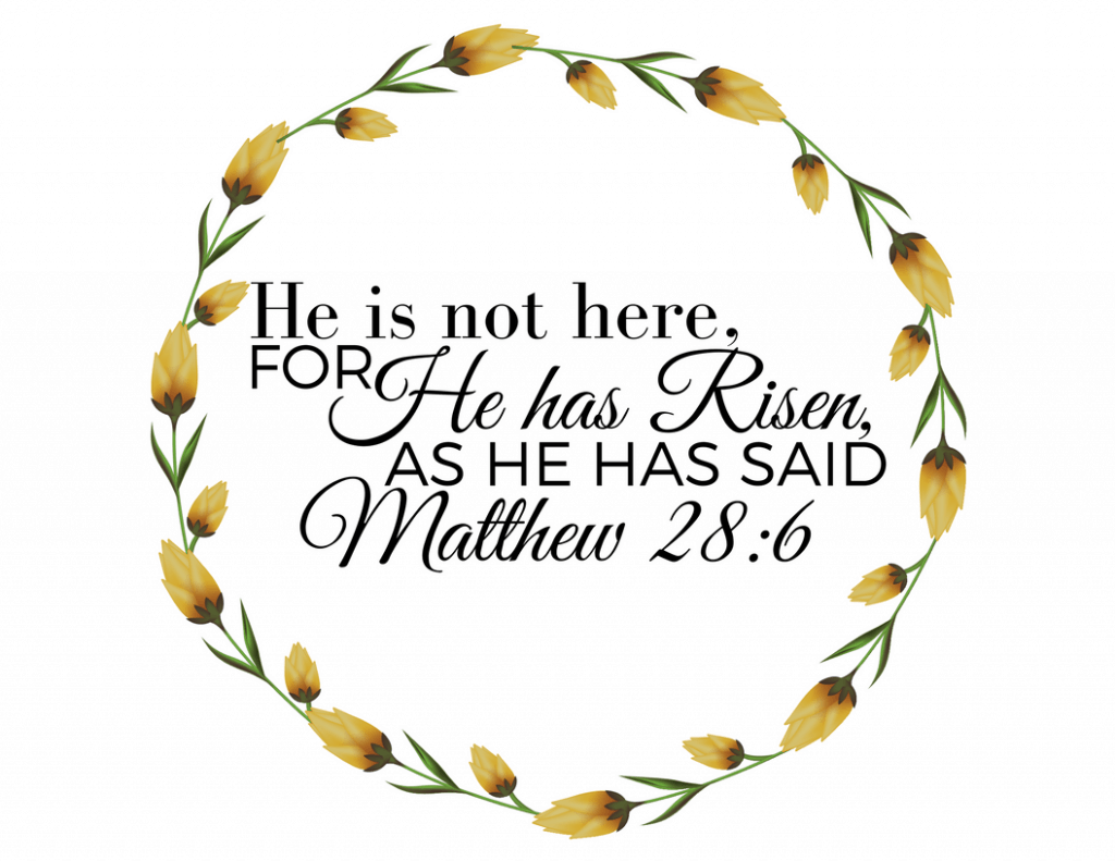 He is Risen Free Easter Printable