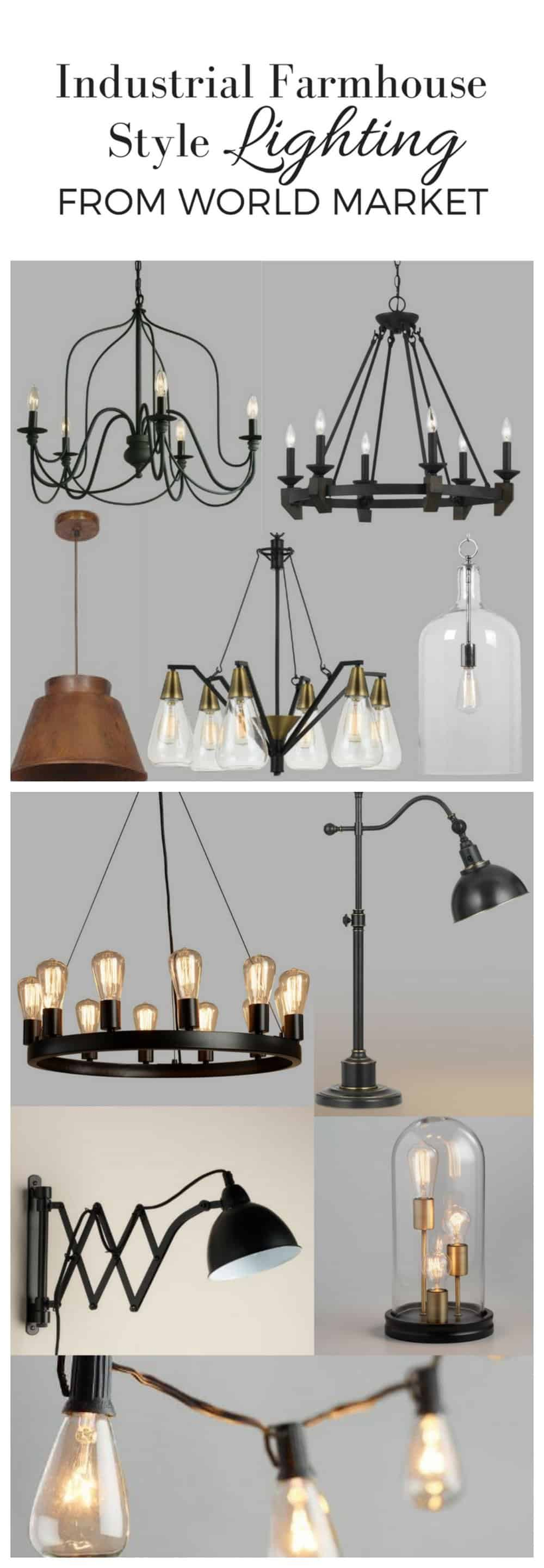 Industrial Farmhouse Style Lighting from World Market Farmhouse on Boone