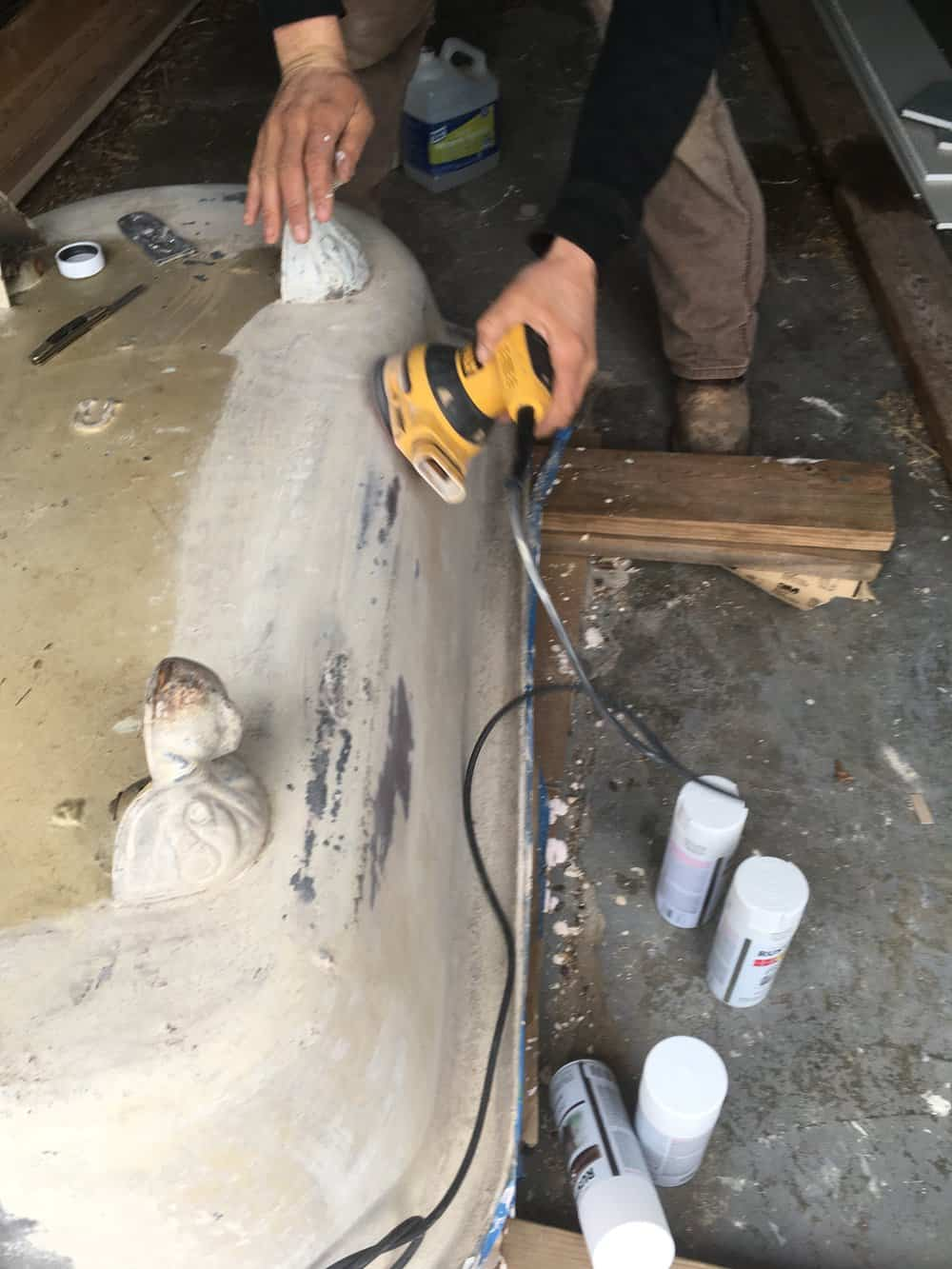 Refinishing A Clawfoot Tub Before And After Farmhouse On Boone