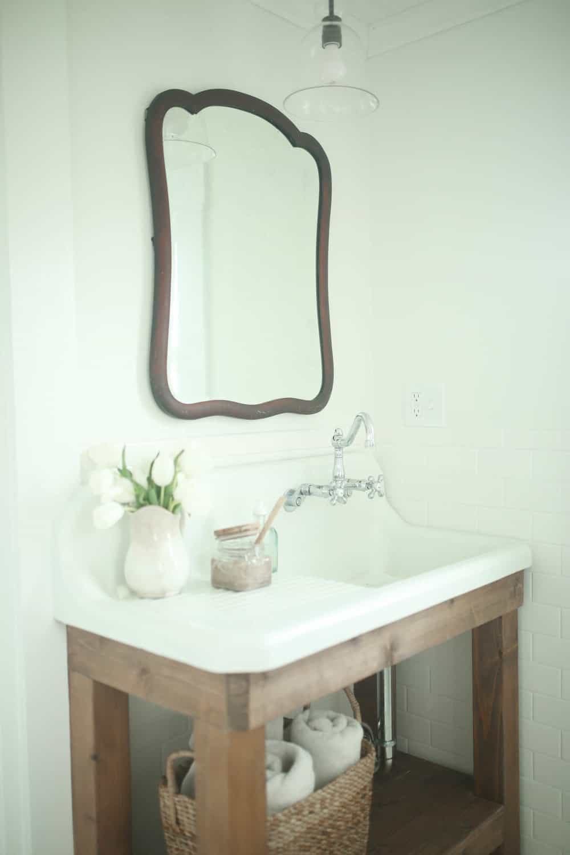 sink country types vanity wood bathroom farmhouse