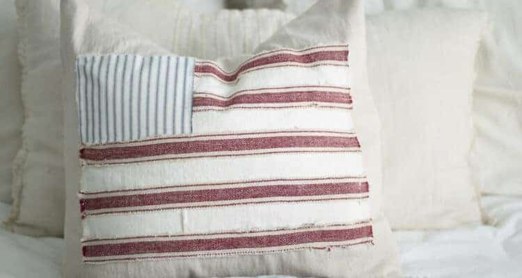 Scrappy Flag Pillow Cover Tutorial