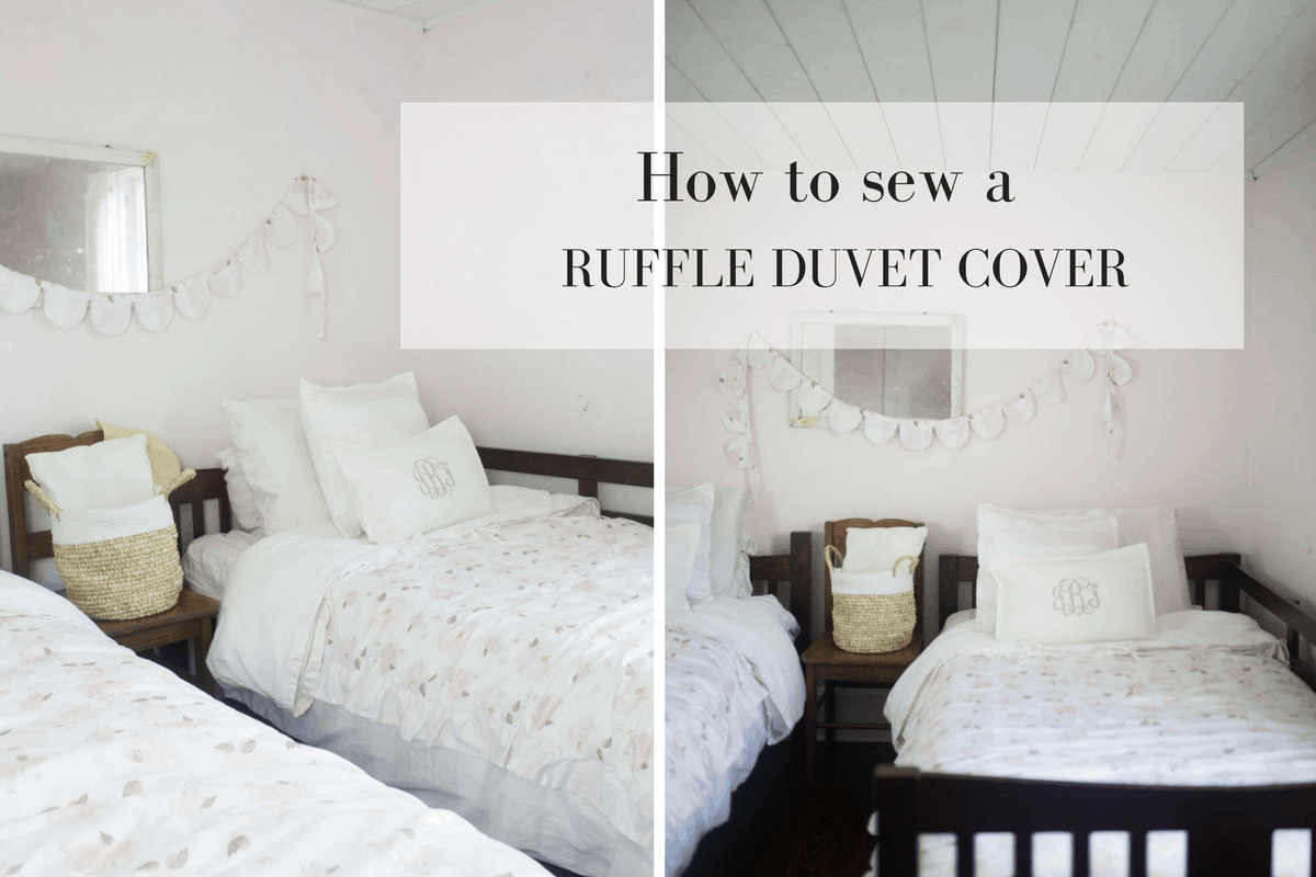 Learn how to make a ruffle duvet cover for a kids room