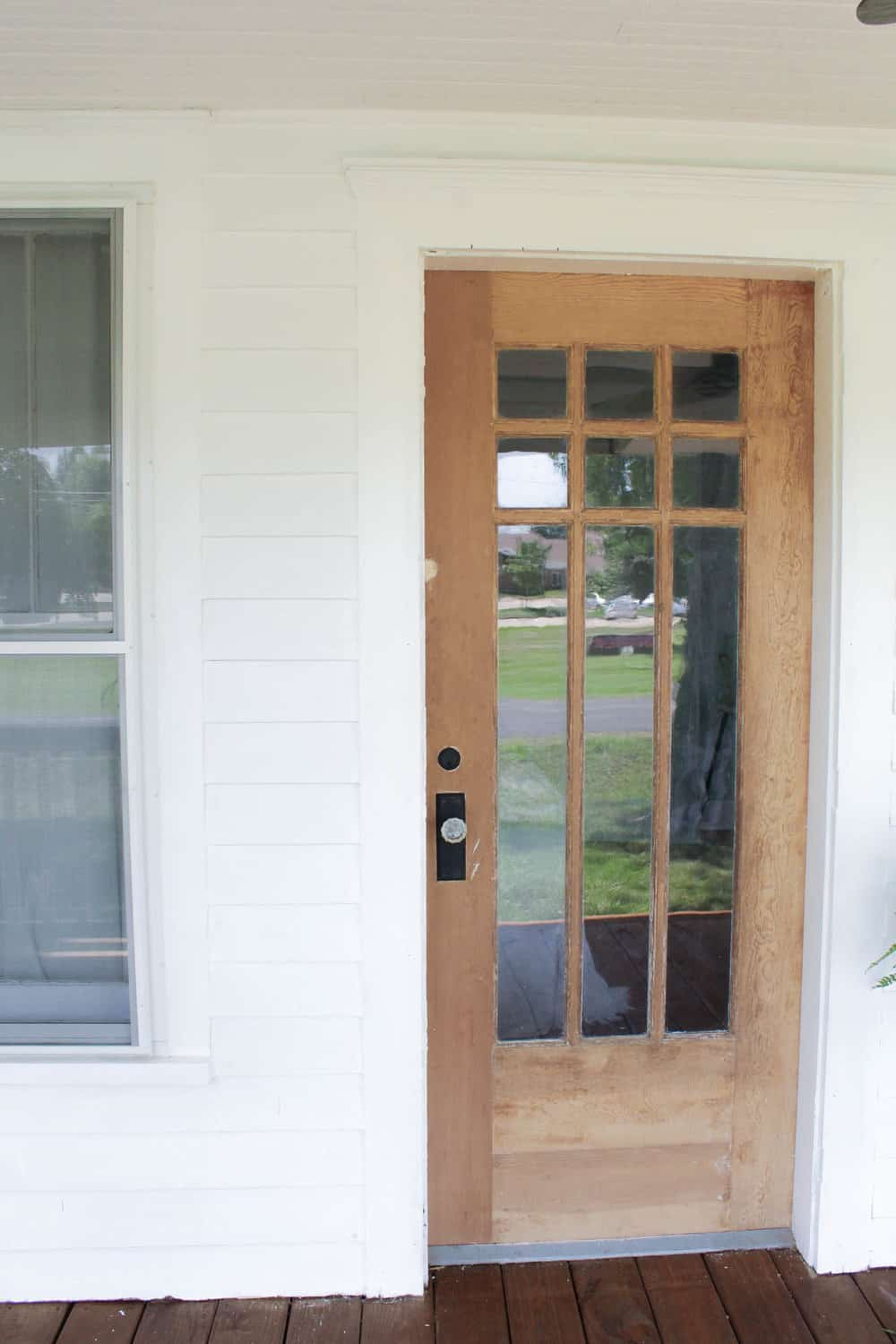 If you are new to my blog you can read all about the farmhouse porch renovation we are in the middle of right now and see the before pictures HERE. & How to Strip Paint Off an Antique Wood Farmhouse Front Door ...