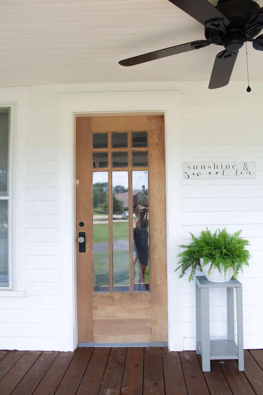 Farmhouse Front Door Ideas: How To Strip Paint Off An Antique Wood Farmhouse Front