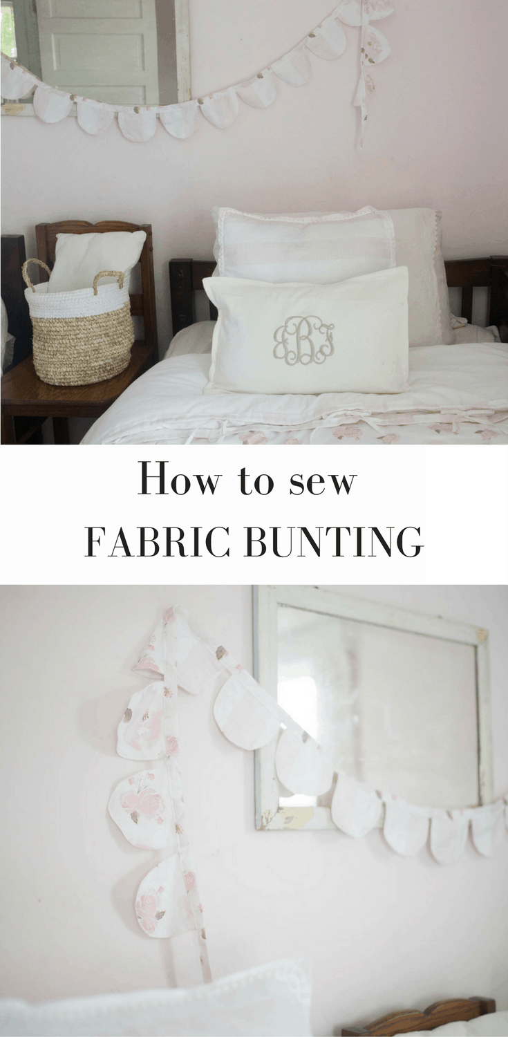 Learn how to make fabric bunting for a kids room or nursery with this DIY sewing tutorial