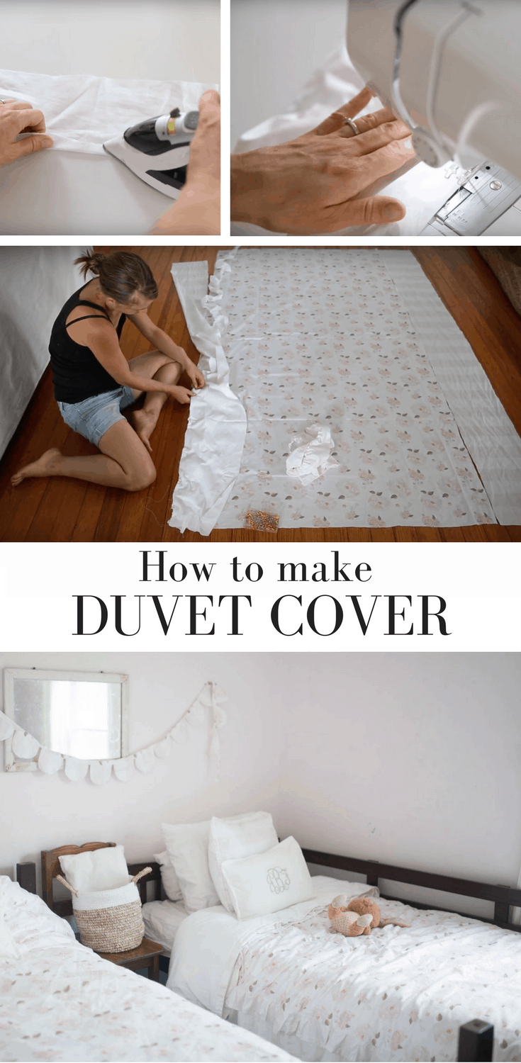 How to Make a Duvet Cover with a Video Tutorial