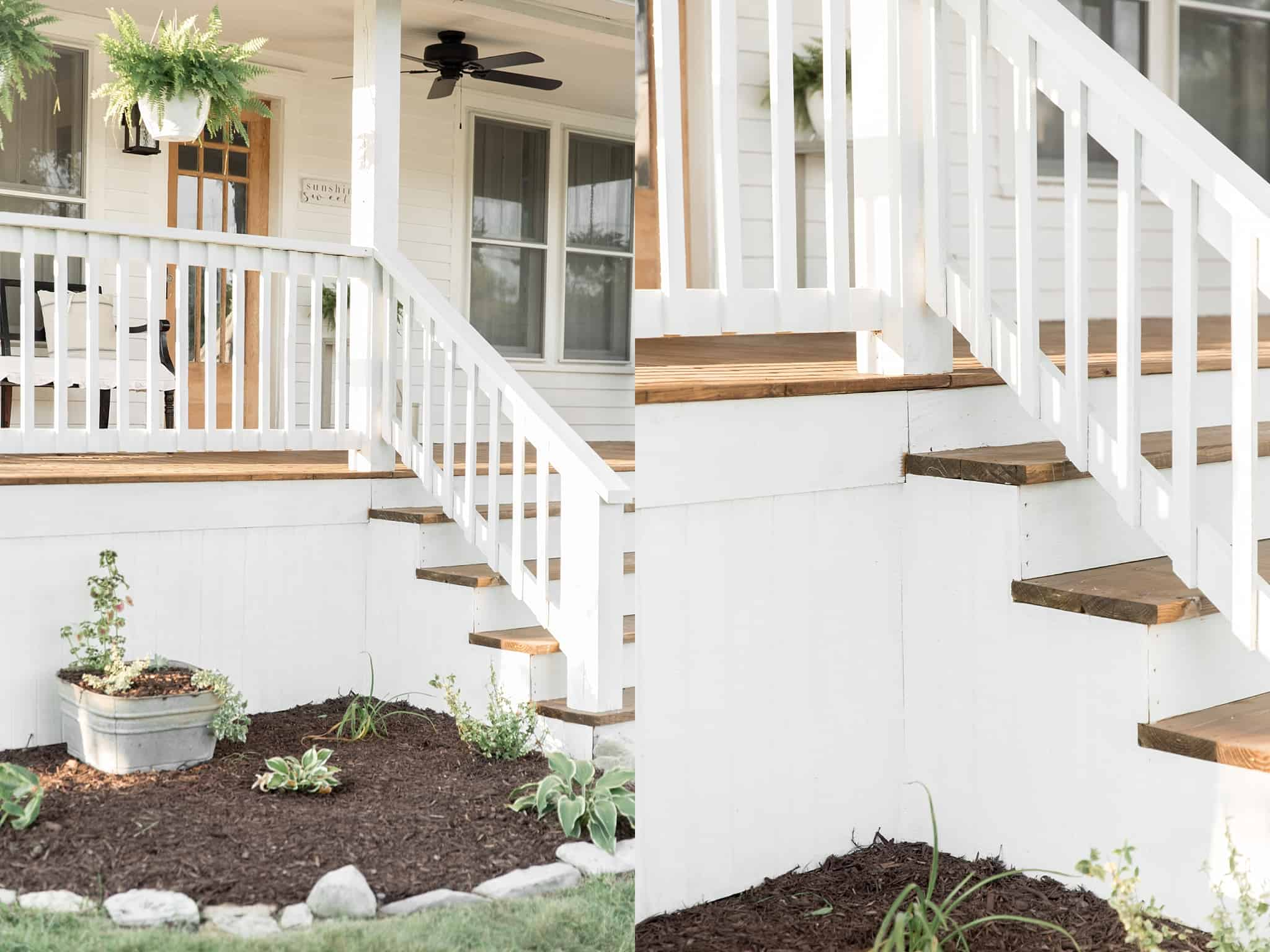 How to wrap concrete stairs with wood