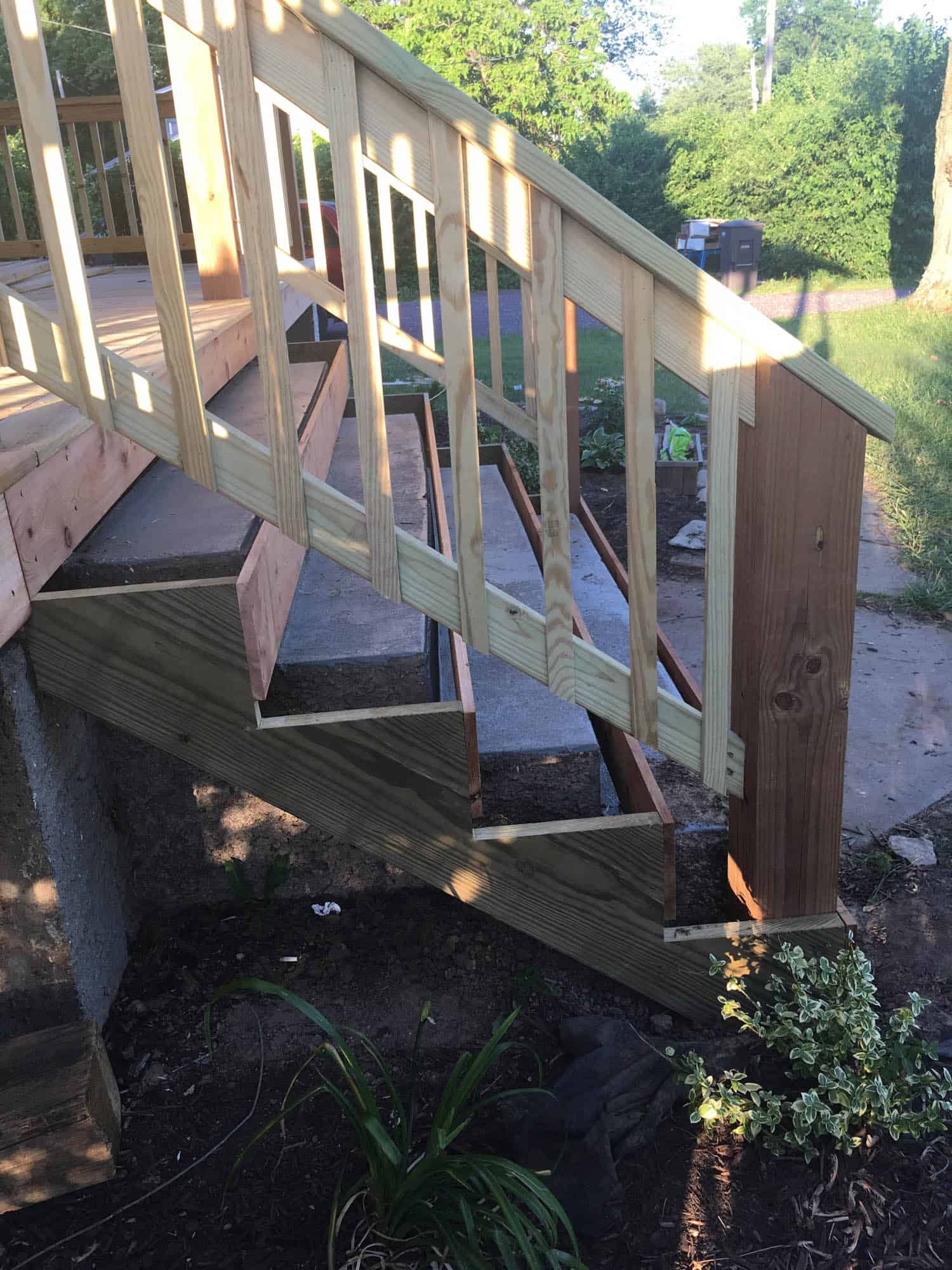 How To Cover Concrete Steps With Wood Farmhouse On Boone