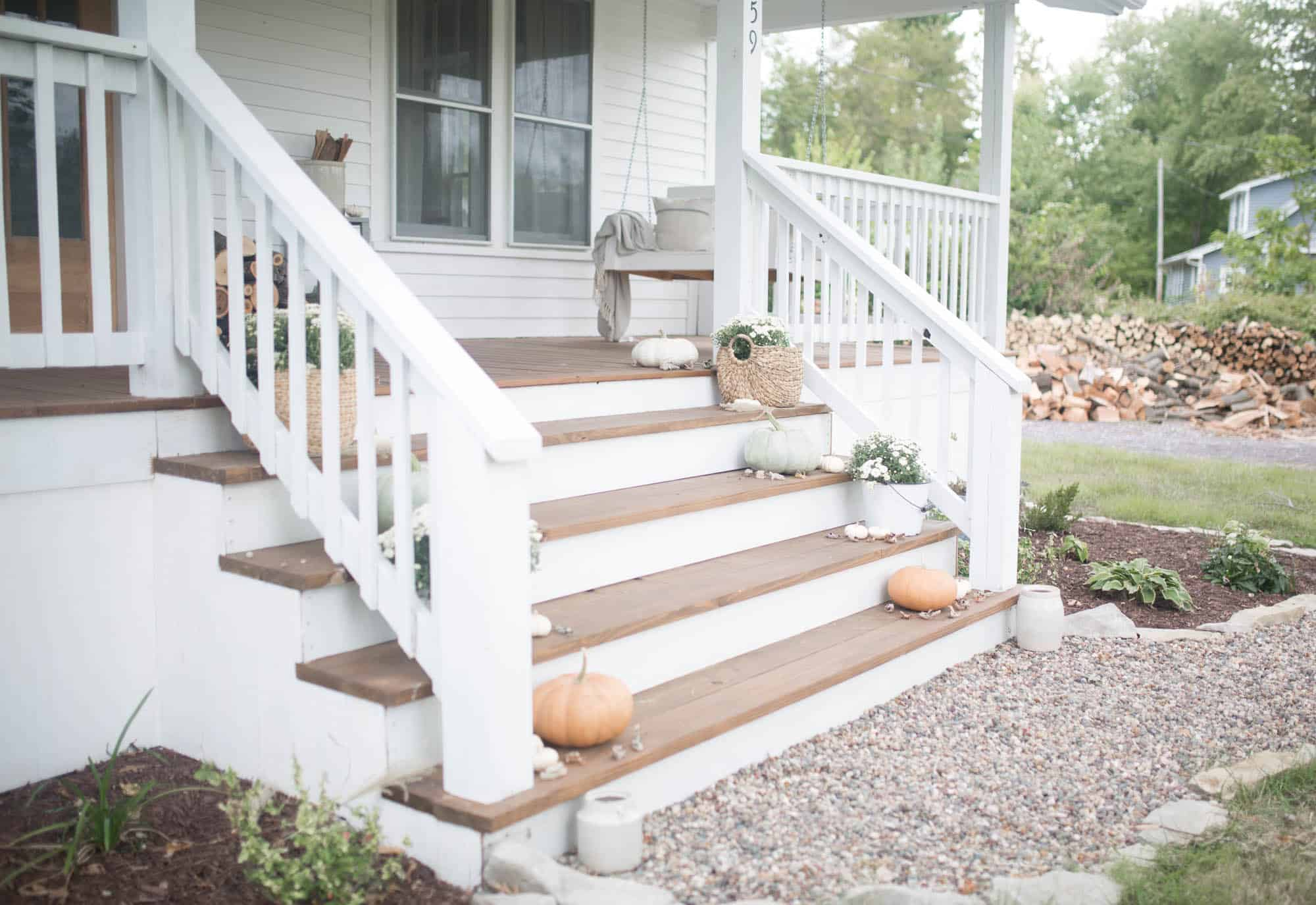 Fall Farmhouse Front Porch Ideas with Farmhouse on Boone