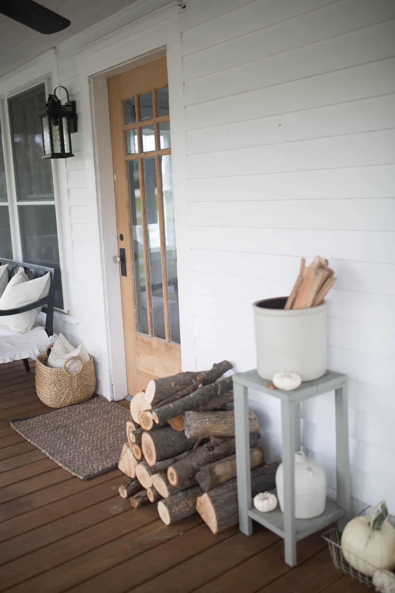 Fall Farmhouse front Porch Ideas