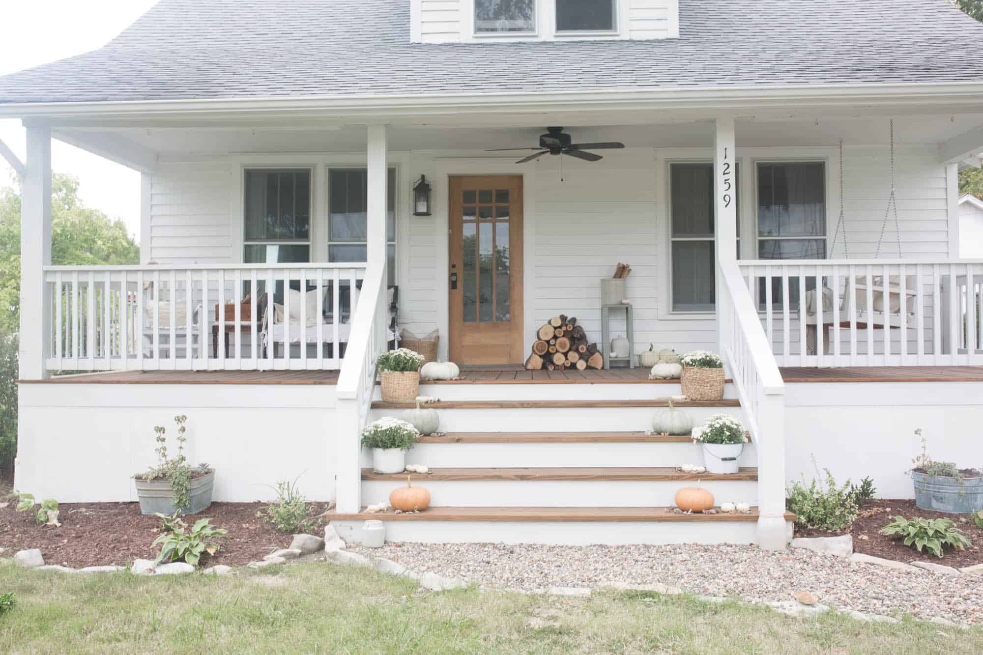 Simple Fall Farmhouse Front Porch Design Ideas from Farmhouse on Boone
