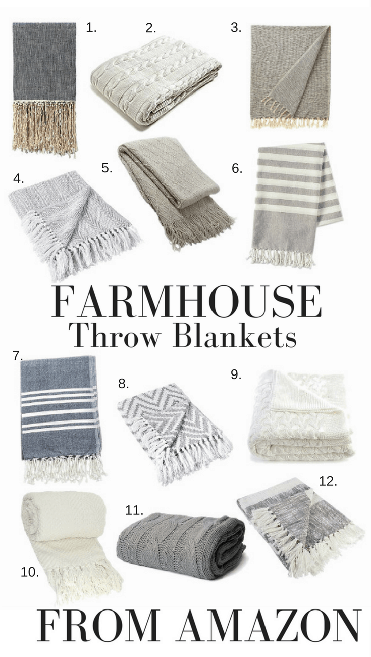Farmhouse Throw Blankets from Amazon