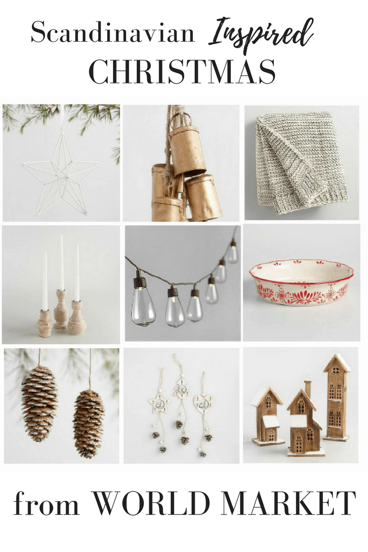 Scandinavian Christmas Decorations from World Market