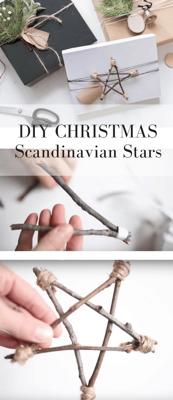 How to Make Scandinavian Inspired Christmas Twig Stars