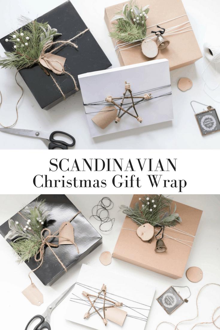 Scandinavian Christmas Gift Wrap Farmhouse On Boone