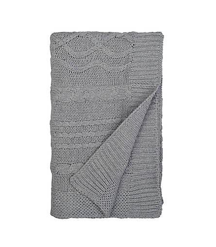 Heather Grey Cable Knit Baby Blanket Burts Bees Baby Checklist