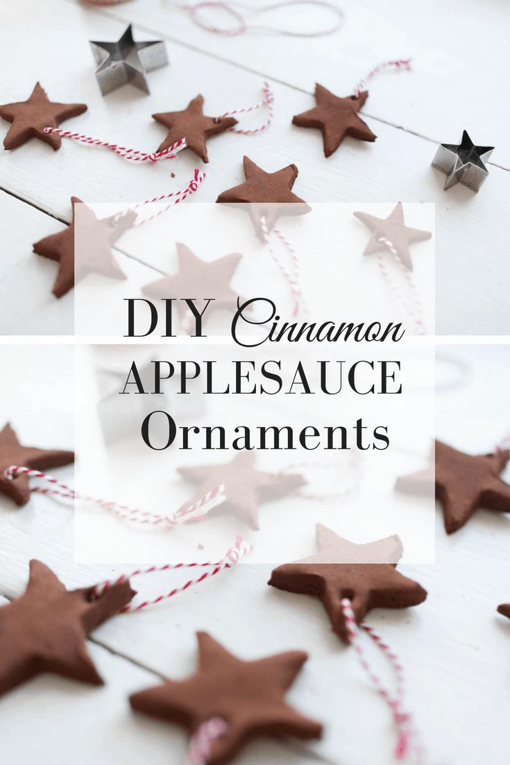 DIY Cinnamon Applesauce Ornaments CHristmas Craft for Kids Homemade Christmas Ornaments