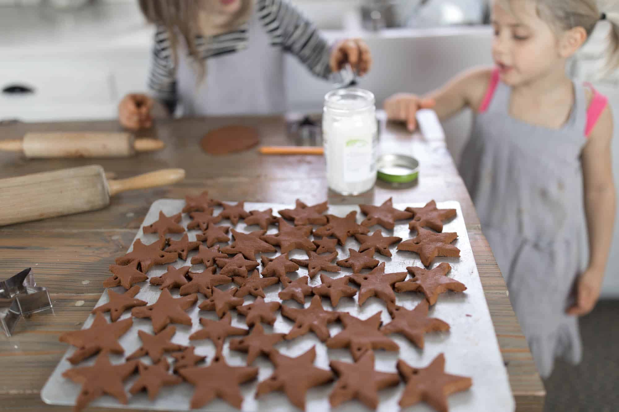 Learn how to make applesauce cinnamon ornaments, a fun Christmas craft with kids
