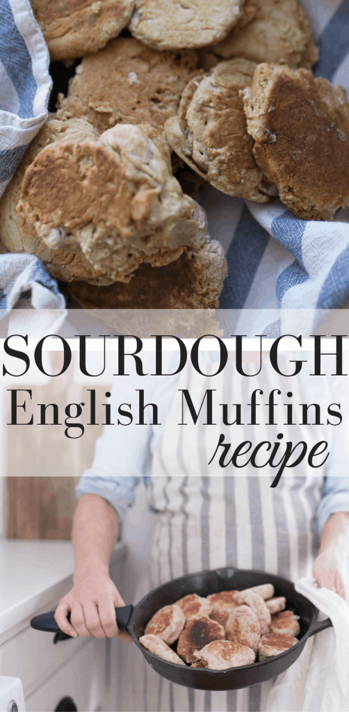 Learn how to make sourdough English muffins with this recipe and video tutorial