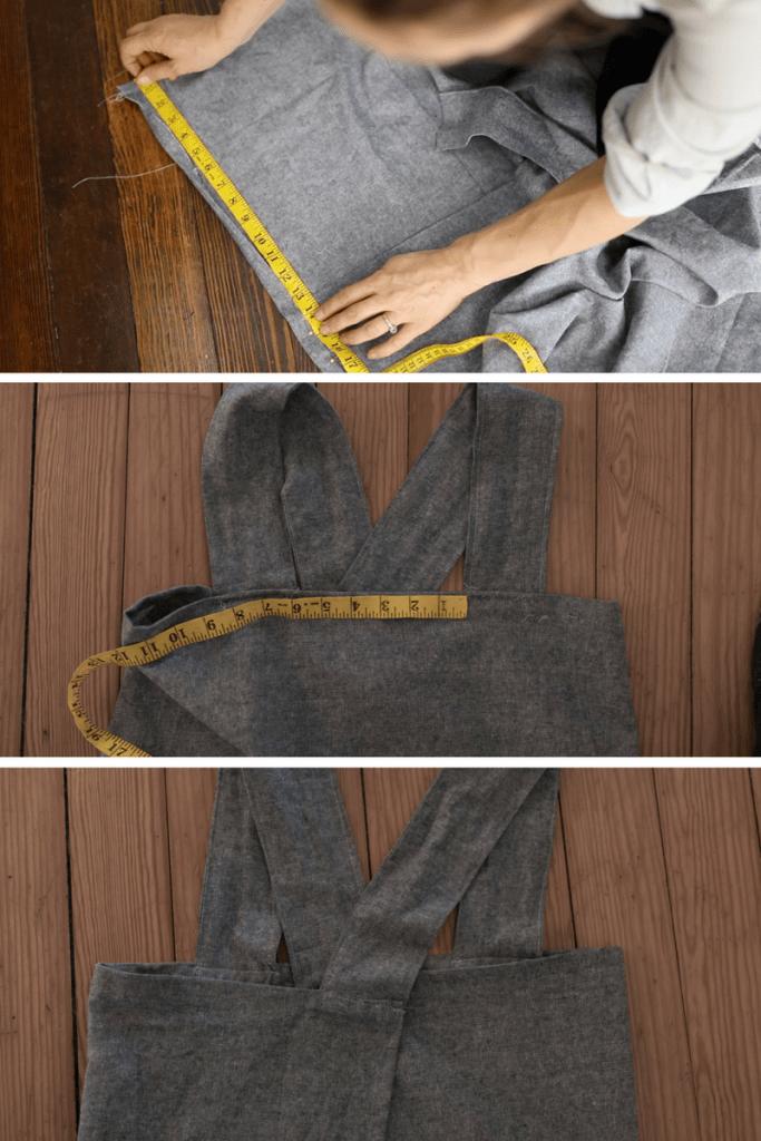 DIY Linen Pinafore Apron Strap Placement