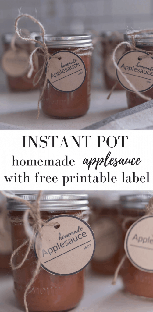 How to Make Applesauce in the Instant Pot and a Free Printable Label