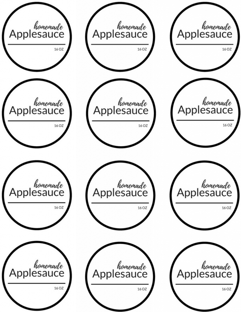 Instant Pot applesauce printable label