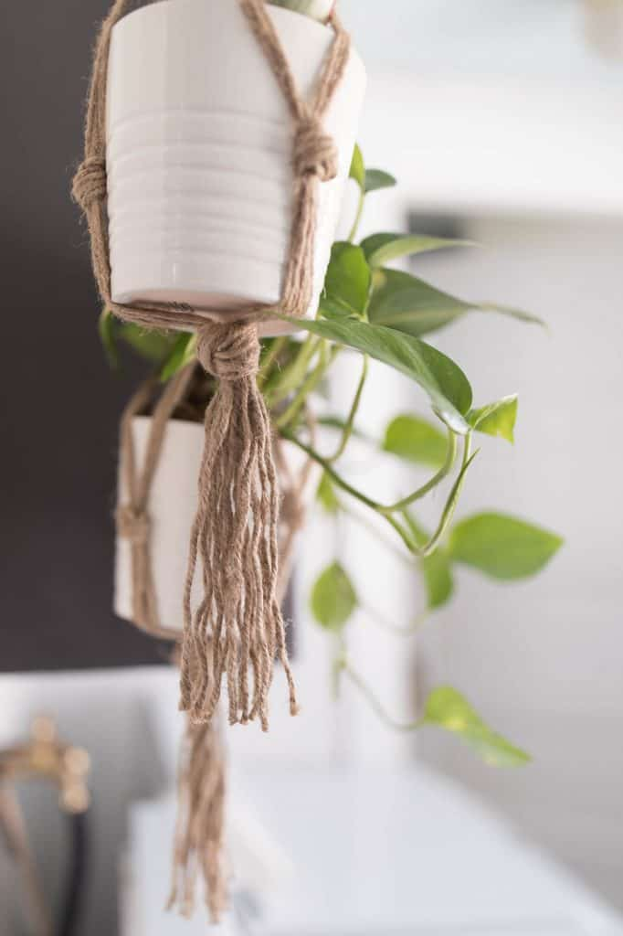 Plant Hanger DIY Project Macrame Farmhouse Home Decor