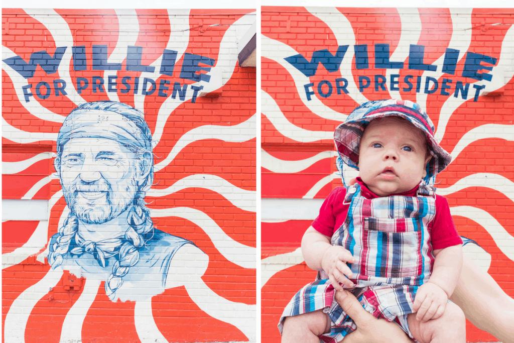 Willie for president Mural Austin Texas