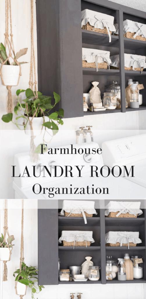Farmhouse Laundry Room Organization Makeover