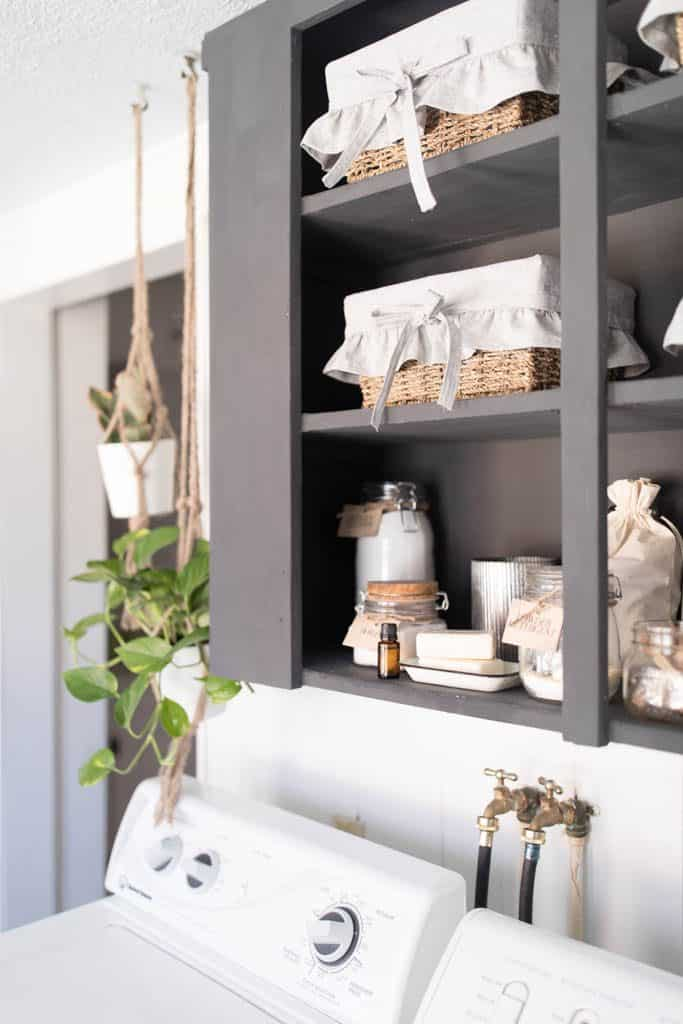 Farmhouse Laundry Room Organization Ideas