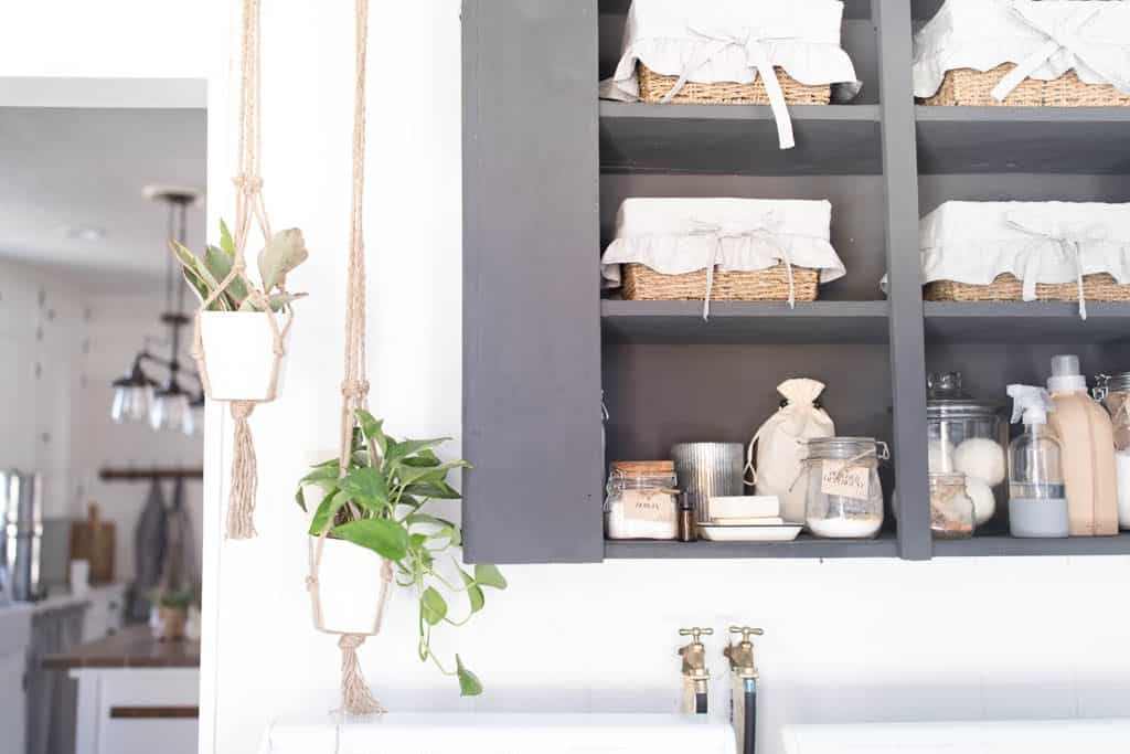 Farmhouse Laundry Room Makeover Laundry room Organization for Small Spaces