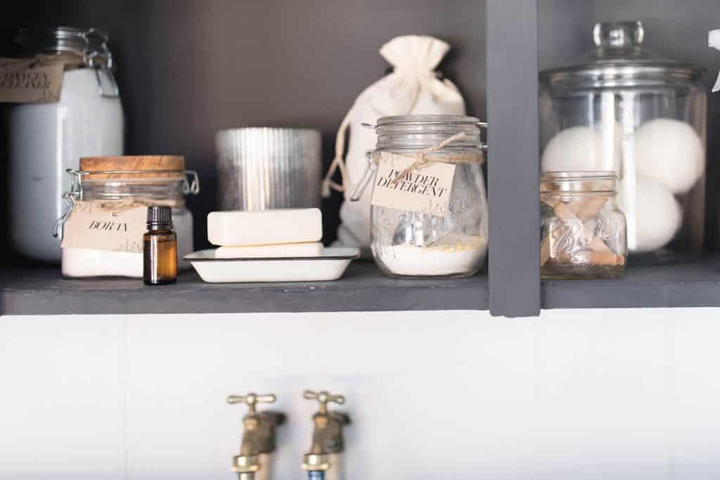 Farmhouse Laundry Room Organization Ideas