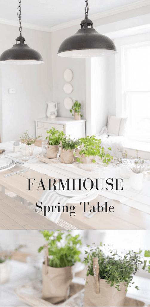 Farmhouse Spring Table Setting