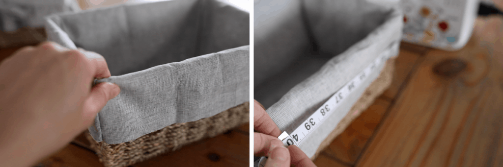 Sewing tutorial how to make a custom basket liner diy