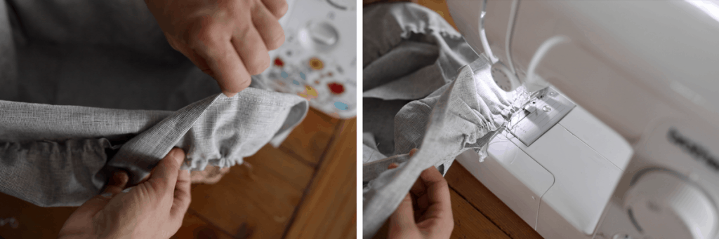 Sewing tutorial how to make a custom ruffle basket liner