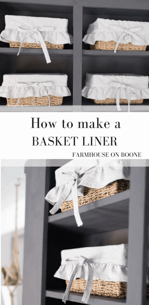 How to Make a Basket Liner Video Tutorial