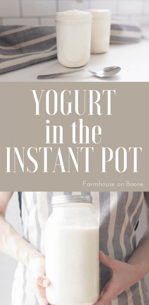 two pictures of yogurt made in the instant pot. - how to make yogurt in the instant pot