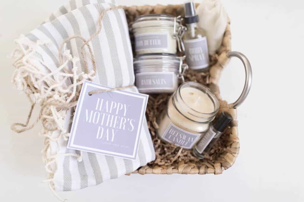 Handmade Mother S Day Gift Baskets With Free Printable Labels