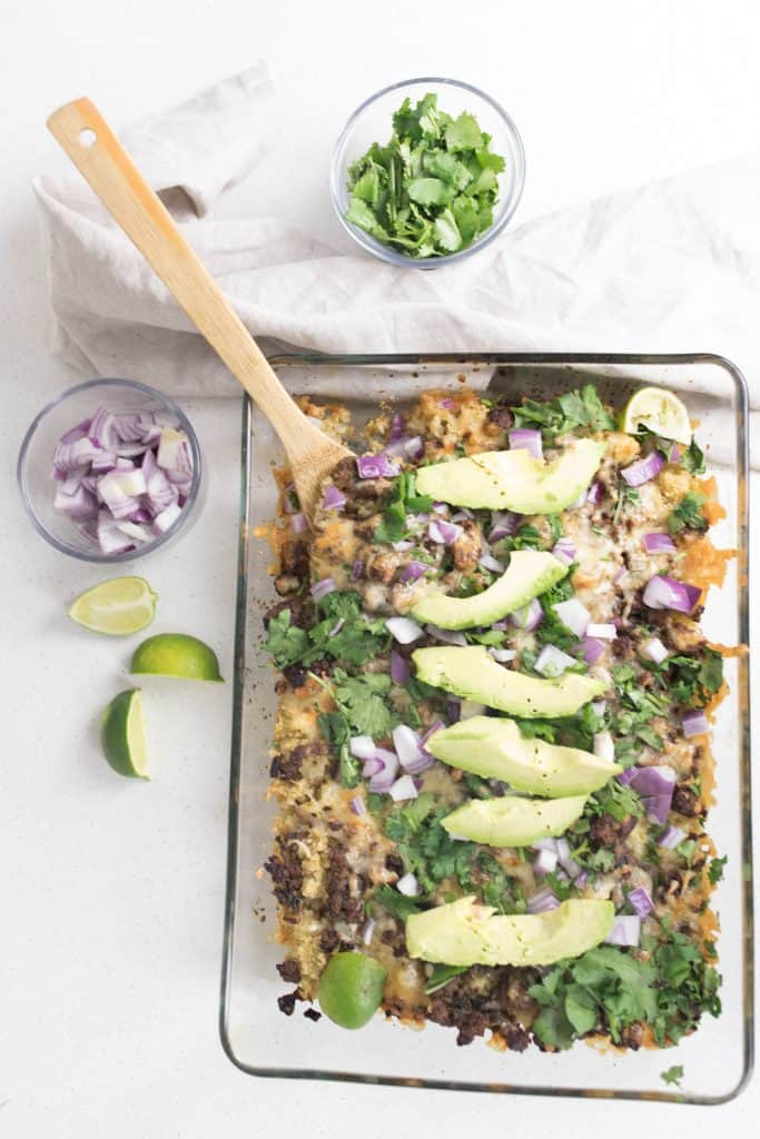Quinoa Nachos without chips c