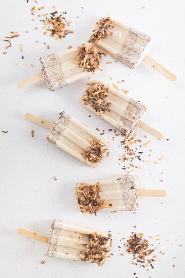 How to make toasted coconut popsicles