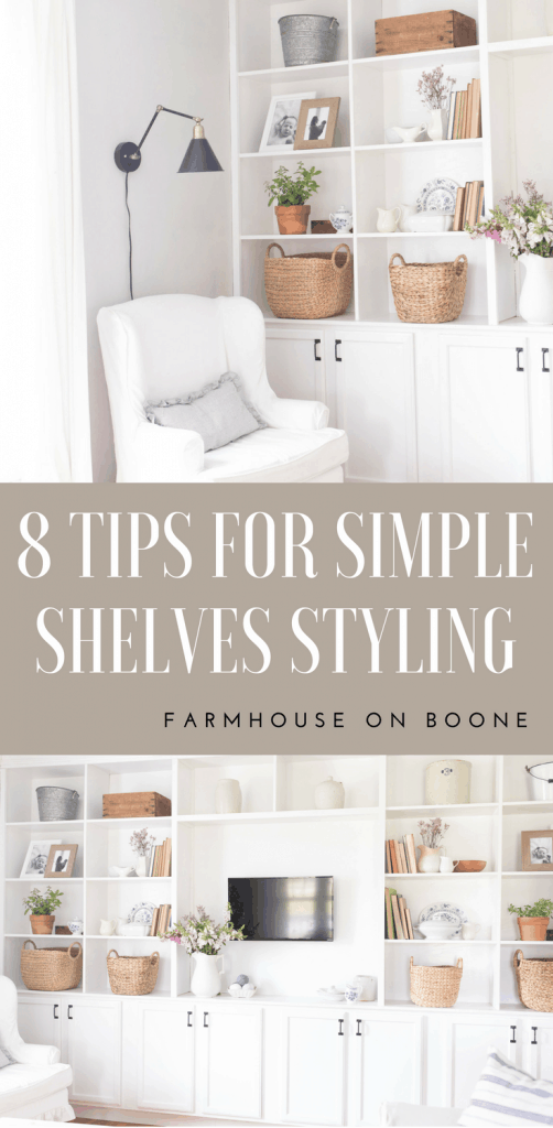 How to style built in shelves how to style built ins simple and neutral