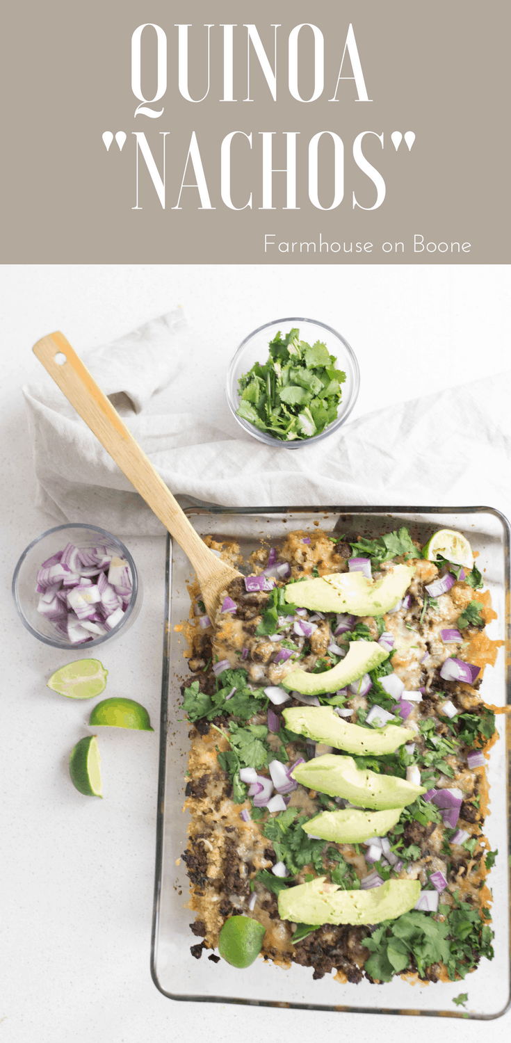Easy Lunch idea Quinoa Nachos