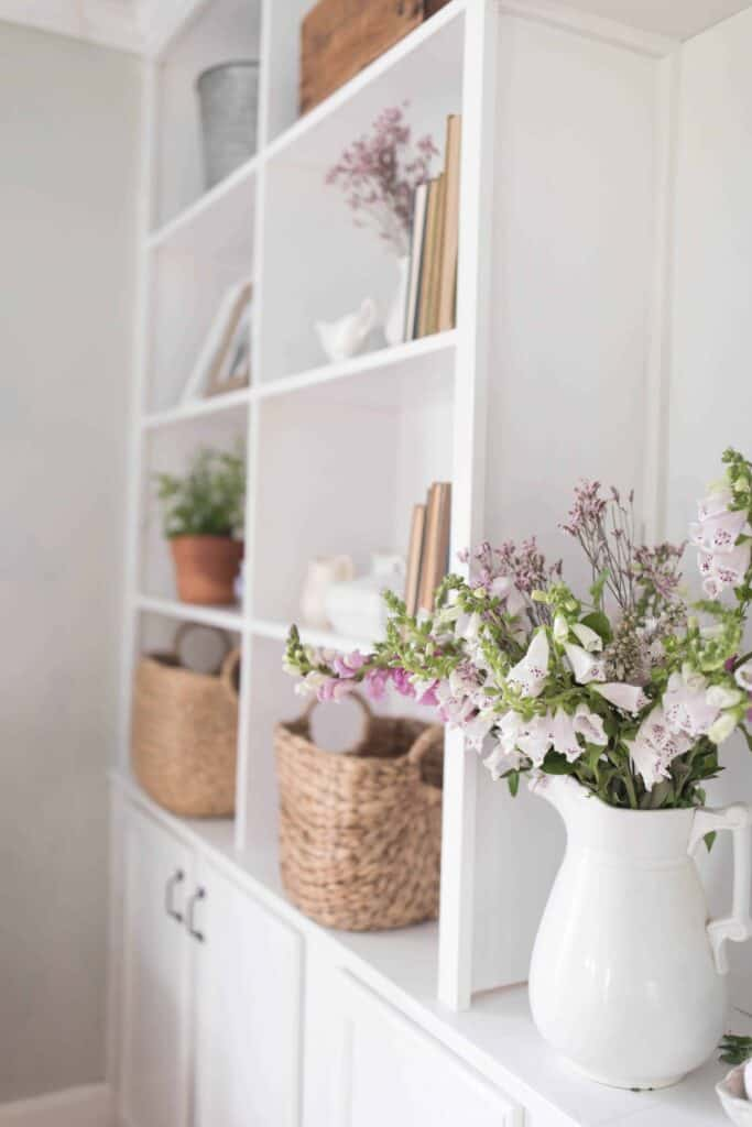 how to style built ins simple summer built in styling