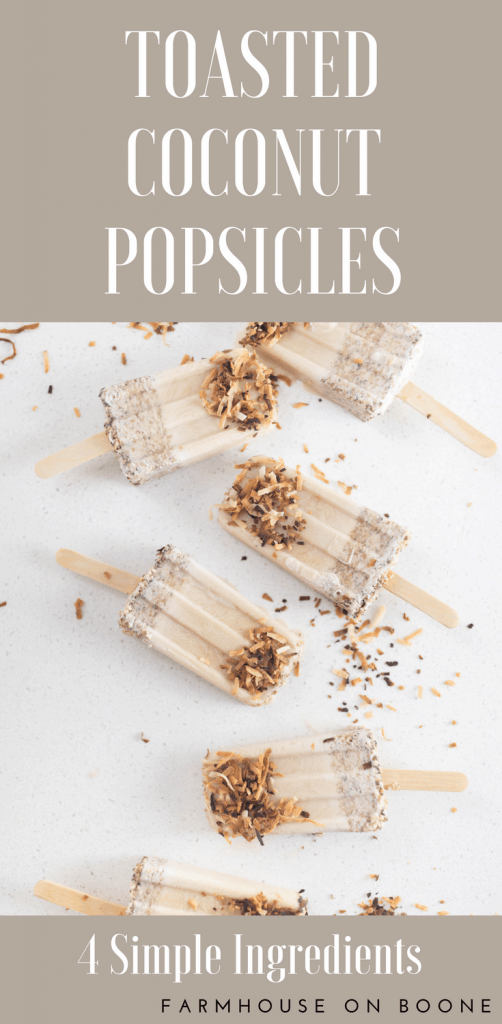 Toasted Coconut Popsicle recipe dairy free summer