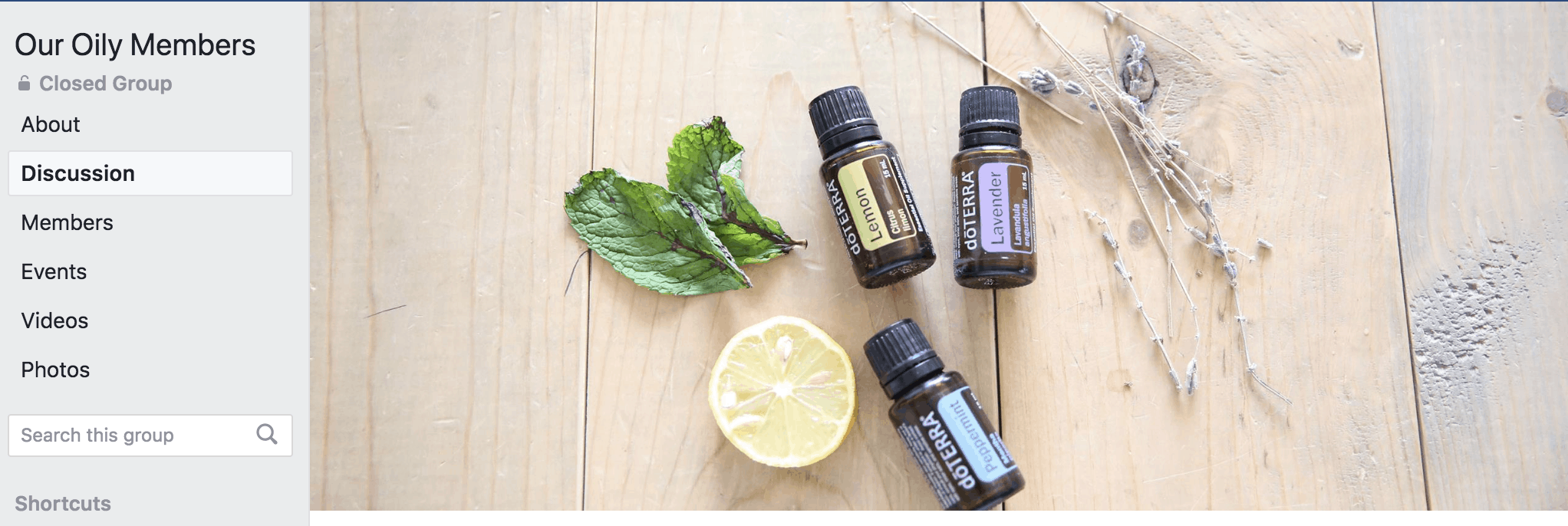 our loily memebrs essential oil members group